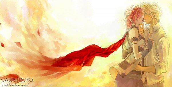 Tags: Anime, Rioko, Final Fantasy XIII, Lightning Farron, Hope Estheim, Pixiv, Facebook Cover