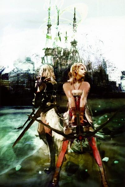 Tags: Anime, SQUARE ENIX, Final Fantasy XIII, Serah Farron, Lightning Farron, Official Art, Mobile Wallpaper