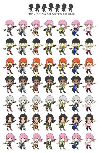 Tags: Anime, SQUARE ENIX, Final Fantasy XIII, Hope Estheim, Lightning Farron, Snow Villiers, Serah Farron, Oerba Dia Vanille, Sazh Katzroy, Oerba Yun Fang, Mobile Wallpaper