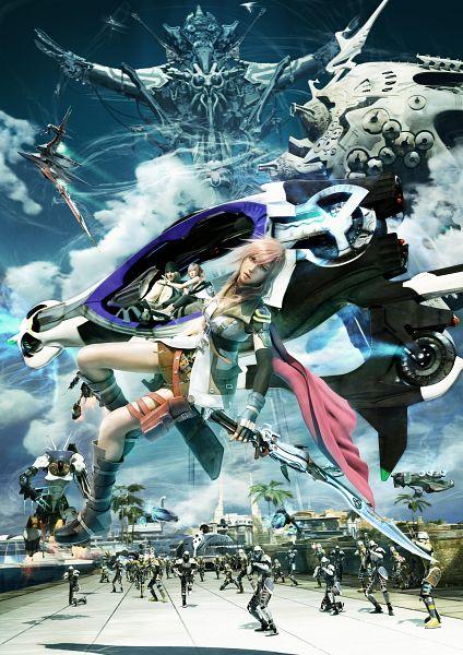 Tags: Anime, Final Fantasy XIII, Lightning Farron, Mobile Wallpaper, Official Art