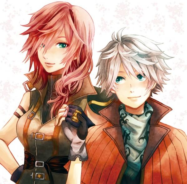 Tags: Anime, Pixiv Id 1592080, Final Fantasy XIII, Lightning Farron, Hope Estheim, Side by Side