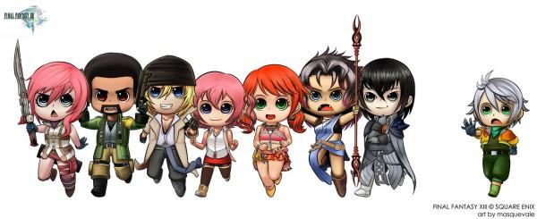 Tags: Anime, Final Fantasy XIII, Lightning Farron, Hope Estheim, Cid Raines, Snow Villiers, Serah Farron, Oerba Dia Vanille, Sazh Katzroy, Oerba Yun Fang