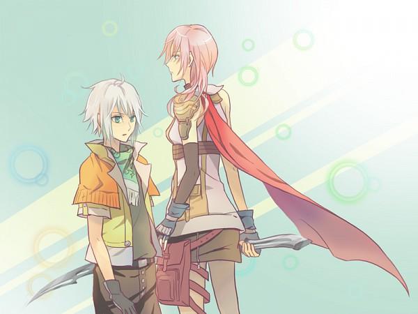 Tags: Anime, Final Fantasy XIII, Hope Estheim, Lightning Farron