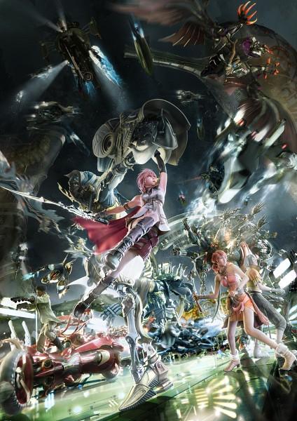 Tags: Anime, Nomura Tetsuya, Final Fantasy XIII, Bahamut, Stiria, Alexander (Final Fantasy), Brynhildr, Shiva (Final Fantasy), Odin (Final Fantasy), Snow Villiers, Hecatoncheir, Sazh Katzroy, Oerba Dia Vanille