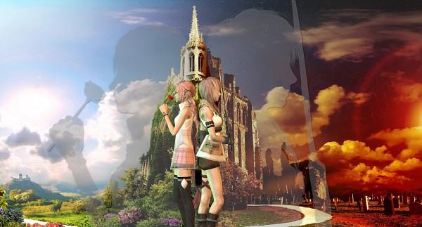 Tags: Anime, Final Fantasy XIII, Lightning Farron, Serah Farron, Facebook Cover