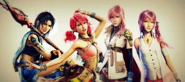 Tags: Anime, Final Fantasy XIII, Serah Farron, Oerba Yun Fang, Oerba Dia Vanille, Lightning Farron, Thelonelyislandfreak, Edited, Facebook Cover
