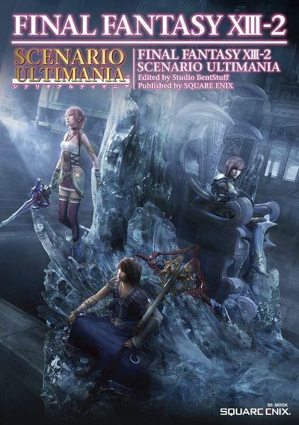 Tags: Anime, Nomura Tetsuya, SQUARE ENIX, Final Fantasy XIII, Lightning Farron, Serah Farron, Noel Kreiss, Official Art, Mobile Wallpaper