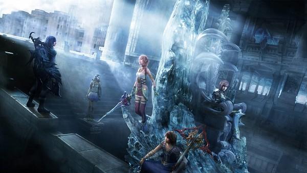 Tags: Anime, Nomura Tetsuya, SQUARE ENIX, Final Fantasy XIII, Noel Kreiss, Lightning Farron, Yeul, Serah Farron, Caius Ballad, Throne, Wallpaper, HD Wallpaper, Facebook Cover