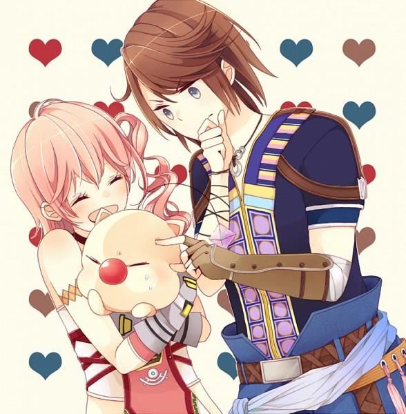 Tags: Anime, Pixiv Id 1564179, Final Fantasy XIII, Moogle, Noel Kreiss, Serah Farron, Pixiv