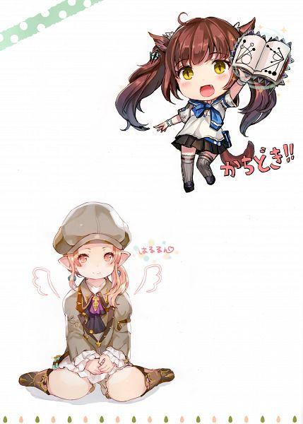 Tags: Anime, Momoko (Momopoco), Sashimi Necoya Patch 1.1, Final Fantasy XIV, Lalafell, Miqo'te, Comic Market 91, Scan, Comic Market