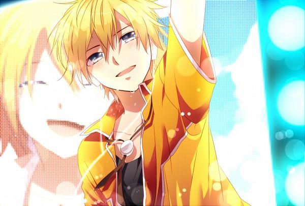 Tags: Anime, Akatsuki (4941086), Project DIVA F, VOCALOID, Kagamine Len, Kagamine Rin, Fire◎Flower, Project DIVA Starmine, Kagamine Mirrors