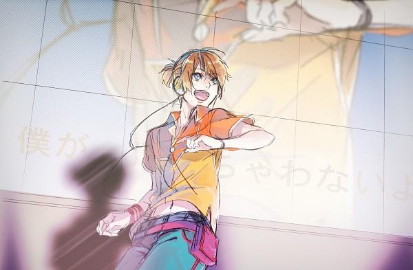 Tags: Anime, Pixiv Id 678460, Project DIVA F, VOCALOID, Kagamine Len, Project DIVA Starmine, Fire◎Flower