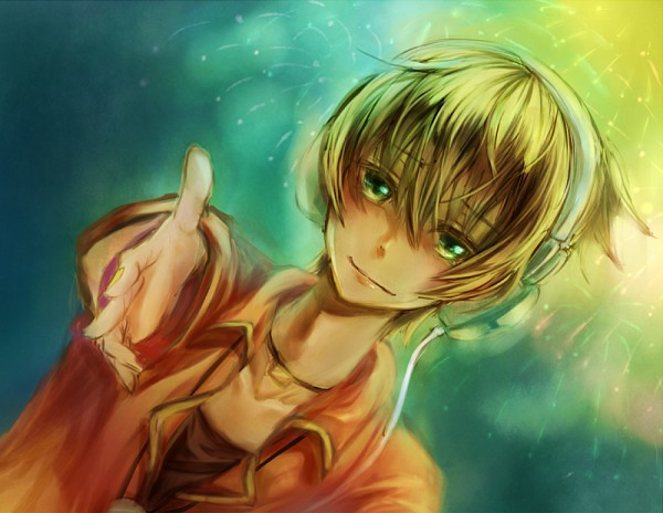 Tags: Anime, Pixiv Id 305863, Project DIVA F, VOCALOID, Kagamine Len, Project DIVA Starmine, Fire◎Flower