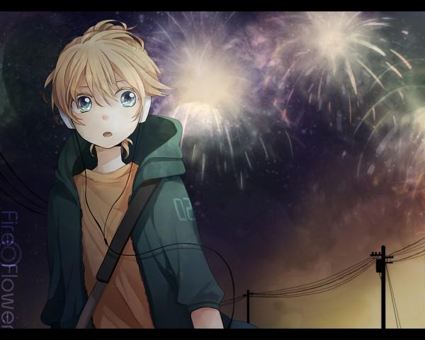 Tags: Anime, Tama Songe, VOCALOID, Kagamine Len, Pixiv, Fire◎Flower