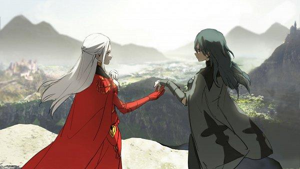Tags: Anime, Kisetsu2010, Fire Emblem: Fuuka Setsugetsu, Beres (Fire Emblem), Edelgard von Hræsvelgr, Wallpaper, Twitter, Fire Emblem: Three Houses