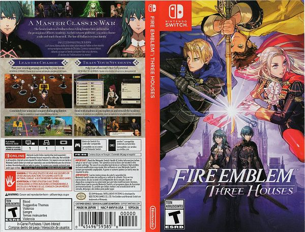 Tags: Anime, Fire Emblem: Fuuka Setsugetsu, Scan, Cover Image, Official Art, Game Cover, Self Scanned, Fire Emblem: Three Houses