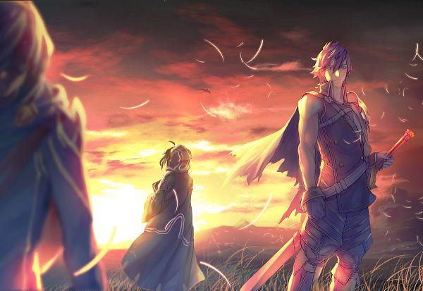 Tags: Anime, Kitunen, Fire Emblem: Kakusei, Rufure (Male) (Fire Emblem), Lucina (Fire Emblem), Chrom (Fire Emblem), Fire Emblem: Awakening