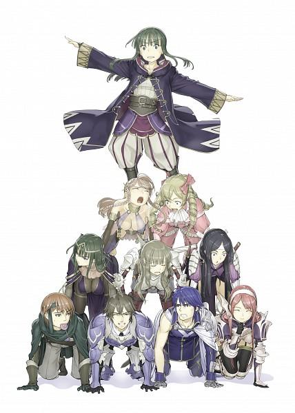 Tags: Anime, Nakaba Reimei, Fire Emblem: Kakusei, Sariya (Fire Emblem), Olivia (Fire Emblem), Smia, Rufure (Female) (Fire Emblem), Gaius (Fire Emblem), Chrom (Fire Emblem), Mariabell (Fire Emblem), Sairi, Frederik (Fire Emblem), Serge (Fire Emblem), Fire Emblem: Awakening