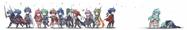Tags: Anime, Pixiv Id 3717883, Fire Emblem: Kakusei, Yune (Fire Emblem), Chrom (Fire Emblem), Ephraim (Fire Emblem), Cecilia (Fire Emblem), Lyn (Fire Emblem), Eirik (Fire Emblem), Celice Baldos Chalphy, Marth (Fire Emblem), Leaf Faris Claus, Roy (Fire Emblem), Fire Emblem: Awakening