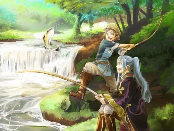 Tags: Anime, Otoka Hisagi, Fire Emblem: Kakusei, Rufure (Female) (Fire Emblem), Donny, Fishing Rod, Fanart, Fanart From Pixiv, Pixiv, Fire Emblem: Awakening