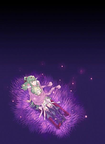 Tags: Anime, Kozaki Yuusuke, Fire Emblem: Kakusei, Nono (Fire Emblem), Chiki (Fire Emblem), Fireflies, Yawn, Official Art, Fire Emblem: Awakening