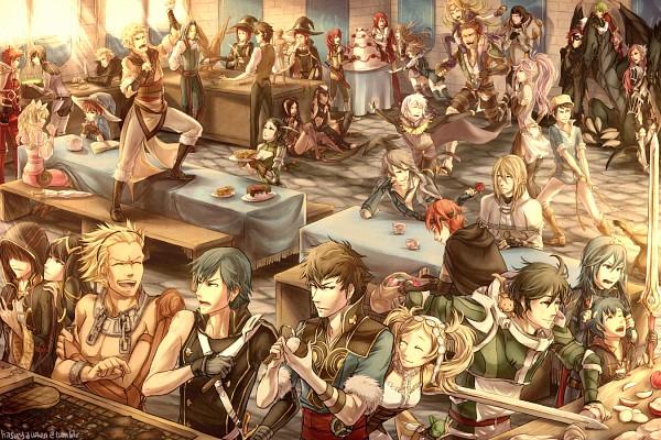 Tags: Anime, Hasuyawn, Fire Emblem: Kakusei, Chrom (Fire Emblem), Ronku, Wood (Fire Emblem), Sariya (Fire Emblem), Olivia (Fire Emblem), Grego, Nono (Fire Emblem), Donny, Azure (Fire Emblem), Tiamo (Fire Emblem), Fire Emblem: Awakening