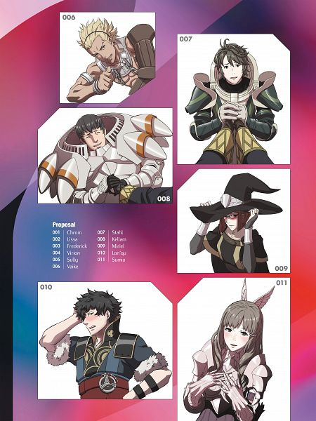 Tags: Anime, Kozaki Yuusuke, Intelligent Systems, The Art of Fire Emblem: Awakening, Fire Emblem: Kakusei, Cullum, Miriel, Sort (Fire Emblem), Wyck, Smia, Ronku, Official Art, Fire Emblem: Awakening
