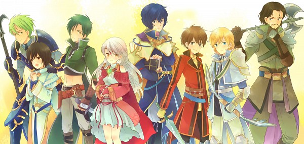 Tags: Anime, Pixiv Id 116905, Fire Emblem: Path of Radiance, Sothe, Leonardo (Fire Emblem), Laura (Fire Emblem), Nolan, Edward (Fire Emblem), Brad (Fire Emblem), Micaiah, Pelleas, Pixiv, Fanart From Pixiv