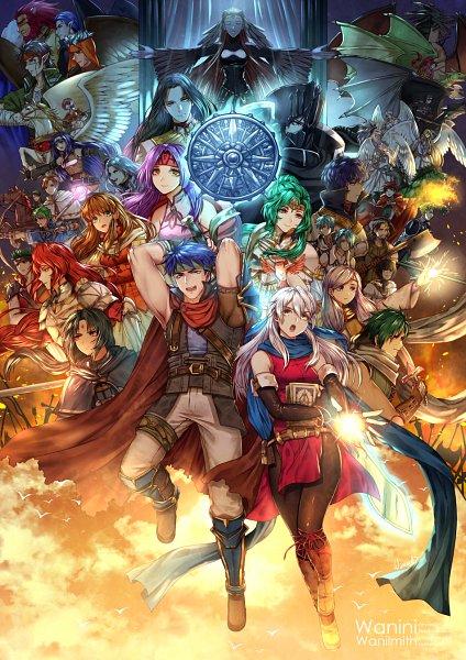 Tags: Anime, Pixiv Id 3477703, Fire Emblem: Path of Radiance, Mist (Fire Emblem), Lethe, Nolan, Sanaki Kirsch Altina, Bole, Wayu (Fire Emblem), Lay (Fire Emblem), Edward (Fire Emblem), Senerio (Fire Emblem), Tiamat (Fire Emblem)