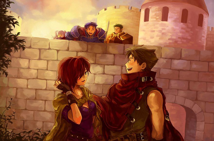 Tags: Anime, Guttary, Fire Emblem: Rekka no Ken, Leila (Fire Emblem), Serra, Oswin, Matthew (Fire Emblem), Hector (Fire Emblem), Fire Emblem: Blazing Sword