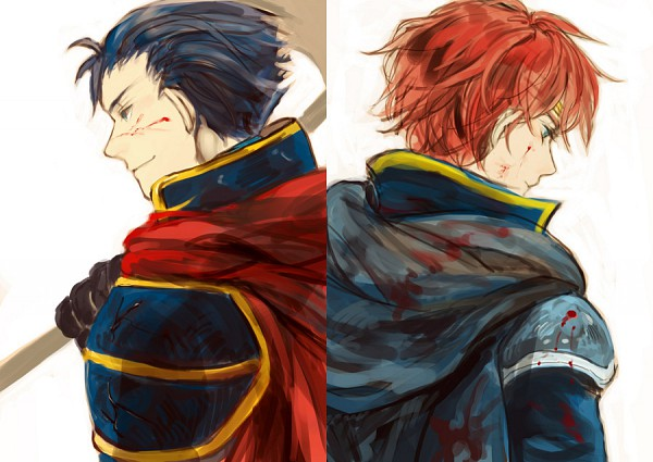 Tags: Anime, Lawn, Fire Emblem: Rekka no Ken, Hector (Fire Emblem), Eliwod, Pixiv, Fanart From Pixiv, Fanart, Fire Emblem: Blazing Sword