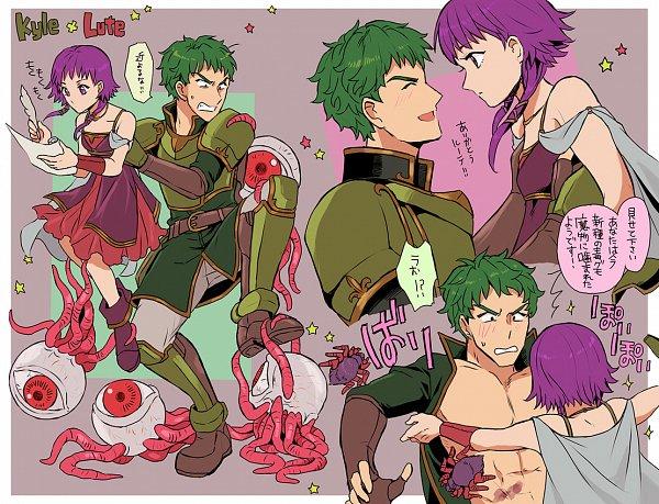 Tags: Anime, Pixiv Id 791999, Fire Emblem: Seima no Kouseki, Kyle (Fire Emblem: Seima No Kouseki), Lute (Fire Emblem), Fire Emblem: The Sacred Stones
