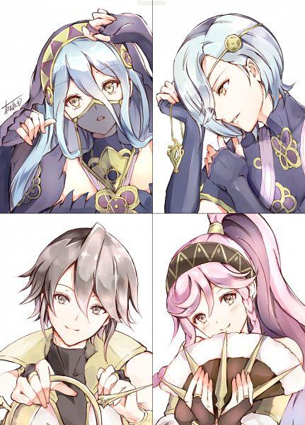 Tags: Anime, Pixiv Id 14888971, Fire Emblem Heroes, Shigure (Fire Emblem), Aqua (Fire Emblem), Azure (Fire Emblem), Olivia (Fire Emblem)