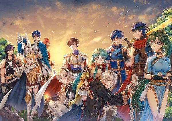 Tags: Anime, Pixiv Id 3477703, Wanini, Fire Emblem Heroes, Leaf Faris Claus, Ike, Kamui (Female) (Fire Emblem), Cellica (Fire Emblem), Eirik (Fire Emblem), Siglud (Fire Emblem), Sharon (Fire Emblem), Rufure (Male) (Fire Emblem), Lyn (Fire Emblem)