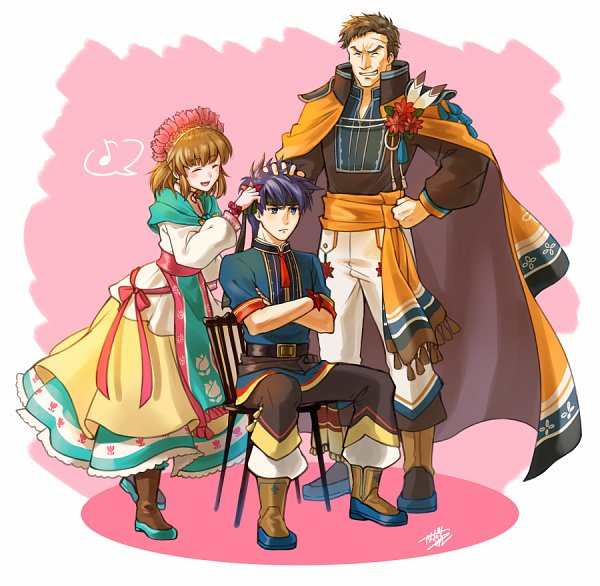Tags: Anime, Pixiv Id 1154565, Fire Emblem Heroes, Greil (Fire Emblem), Ike, Mist (Fire Emblem)
