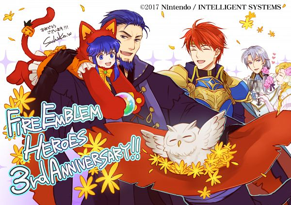 Tags: Anime, Wada Sachiko, Intelligent Systems, Fire Emblem Heroes, Feh, Lilina (Fire Emblem), Hector (Fire Emblem), Louise (Fire Emblem), Eliwod, Pent, Official Art