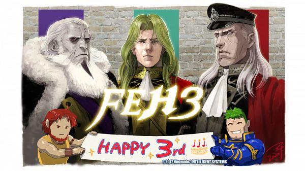 Tags: Anime, Soeda Ippei, Intelligent Systems, Fire Emblem Heroes, Trabant (Fire Emblem), Walhart, Arden (Fire Emblem), Dorcas, Garon (Fire Emblem), Official Art