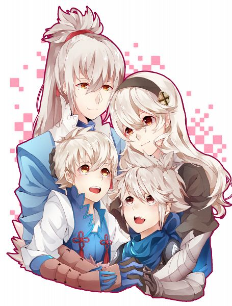 Tags: Anime, Pixiv Id 15129496, Fire Emblem If, Takumi (Fire Emblem), Kamui (Female) (Fire Emblem), Kanna (Fire Emblem), Kisaragi (Fire Emblem), Mobile Wallpaper, PNG Conversion, Fire Emblem Fates