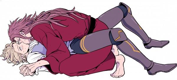 Tags: Anime, Pixiv Id 732812, Fire Emblem If, Marx (Fire Emblem), Ryoma (Fire Emblem), Surprise Kiss, Pixiv, Fanart, Fanart From Pixiv, Fire Emblem Fates