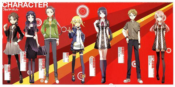 Tags: Anime, BUNBUN, TYPE-MOON, Fire Girl, Touya Takumi, Fujimori Chiayu, Ameno (Fire Girl), Kujou Orie, Hinooka Homura, Kamikoma Sachi, Misasagi Mayo, Novel Illustration, Official Art