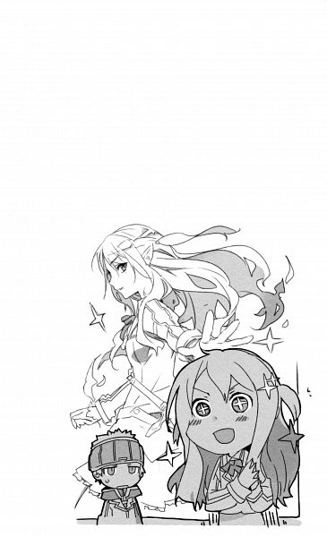 Tags: Anime, BUNBUN, TYPE-MOON, Fire Girl, Touya Takumi, Hinooka Homura, Scan, Novel Illustration, Official Art
