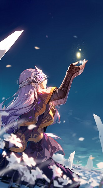 Tags: Anime, Haraguroi You, Dark Souls III, Dark Souls, Fire Keeper, Reaching Up, Mobile Wallpaper, Fanart From Pixiv, Pixiv, Fanart