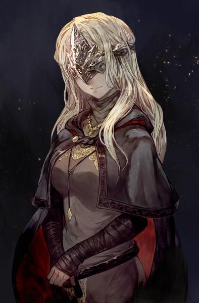 Tags: Anime, lack, Dark Souls, Dark Souls III, Fire Keeper, Gray Dress, Fanart, Tumblr, PNG Conversion, Mobile Wallpaper