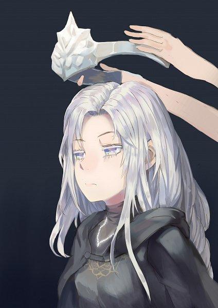 Tags: Anime, Pixiv Id 4618262, Dark Souls III, Fire Keeper, Blank Stare, Fanart, Fanart From Pixiv, Pixiv