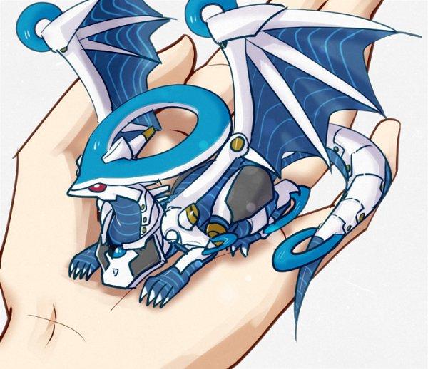 Tags: Anime, Pixiv Id 5431856, Yu-Gi-Oh! VRAINS, Yu-Gi-Oh!, Firewall Dragon, Mini Dragon, Fanart From Pixiv, Pixiv, Fanart