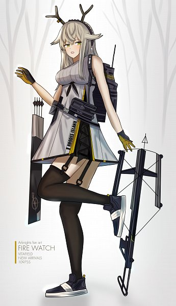 Tags: Anime, Pixiv Id 879232, Arknights, Firewatch, Crossbow, Fanart, Fanart From Pixiv, Pixiv
