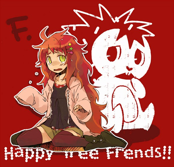 Tags: Anime, Negura, Happy Tree Friends, Flaky, Porcupine, Nervous, Pink Jacket, Pixiv
