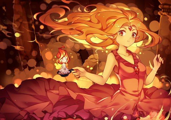 Tags: Anime, Pixiv Id 3109027, Adventure Time, Flame Princess, Orange (Color), Warm Colors, Orange Skin, Fanart From Pixiv, Fanart, Pixiv