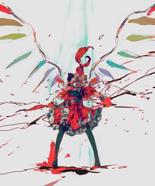 Tags: Anime, Minase Mmakina, Touhou, Flandre Scarlet, Dark Colors, Fanart, Pixiv
