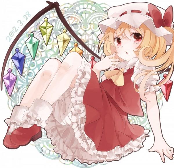 Tags: Anime, Shigure Ui, Touhou, Flandre Scarlet, Pixiv, PNG Conversion, Fanart